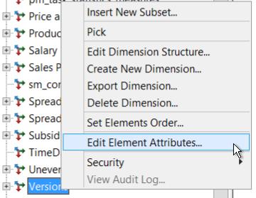 Edit Element Attributes