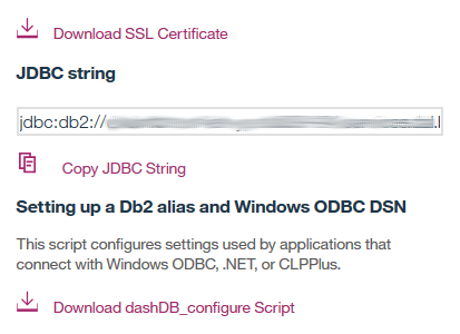 DashDB copy link