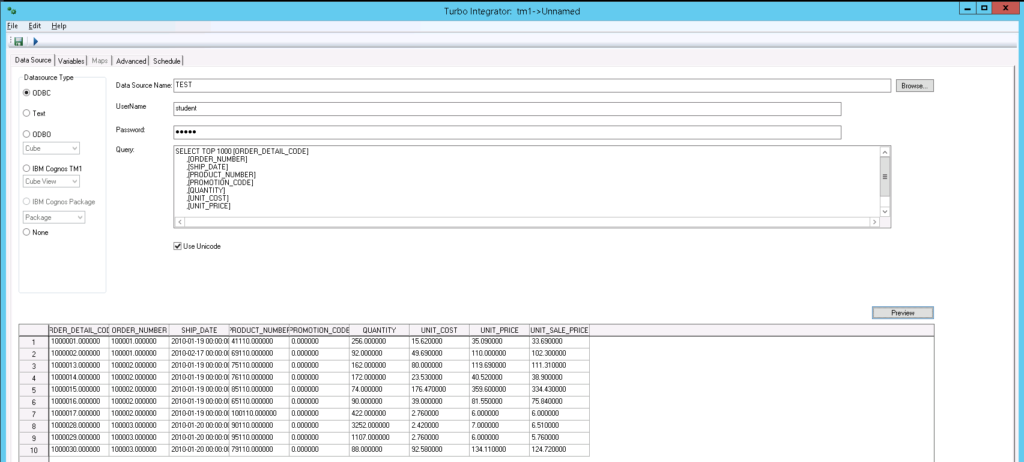 How to create and run a Turbo Integrator process in IBM Planning Analytics
