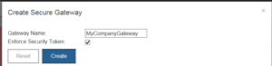 Naming a Secure Gateway in IBM Planning Analytics