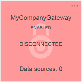 Disconnected tile for a new Gateway with no data sources on the IBM Planning Analytics Controls page