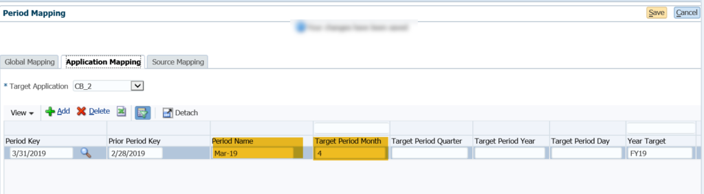 FDMEE target applications - period mappings
