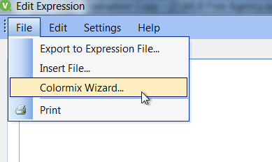Once You Have Clicked On The Colormix Wizard Should See A Dialog That Allows To Put In Expression Want Use