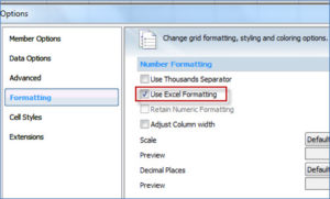 Oracle Smart View Performance Tips - Use Excel Formatting