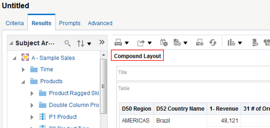OBIEE 12c - Creating a Multi Compound Layout Analysis