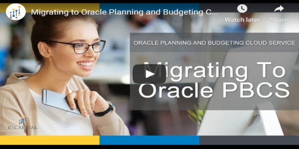 Migrating to Oracle PBCS
