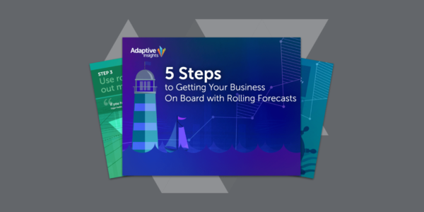 5 steps rolling forecasts
