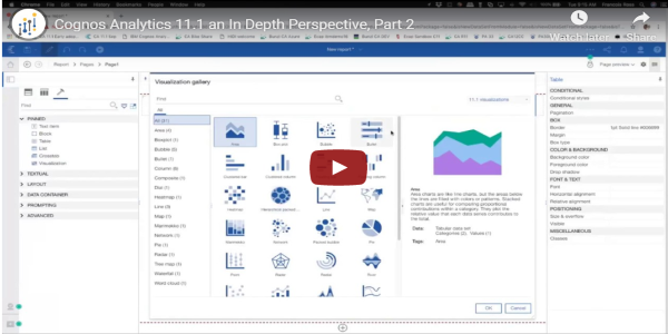 cognos analytics 11.1 part 2