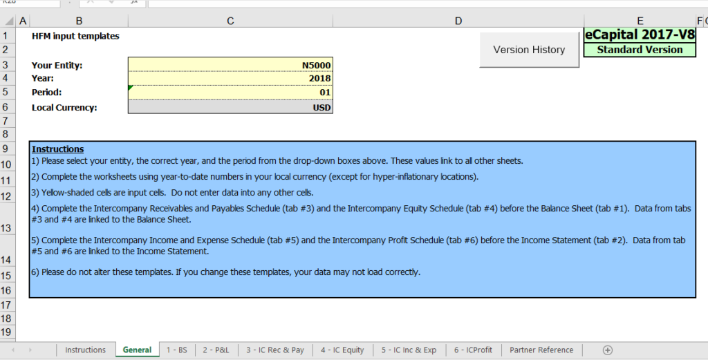 Excel Template Loads with FDMEE - the workbook