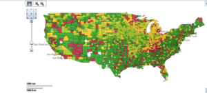 OBIEE 11g Mapviewer - map of U.S. counties without errors