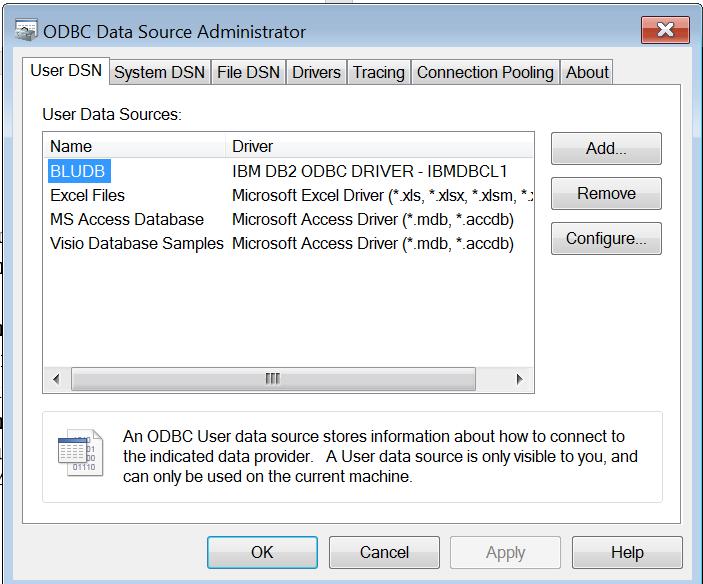Creating an OBDC Connection to DashDB | eCapital Advisors