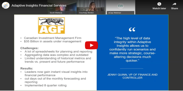 Adaptive Insights Financial Services