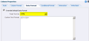 OBIEE HTML image link - Change column properties