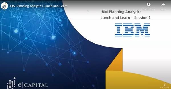 IBM Planning Analytics Video
