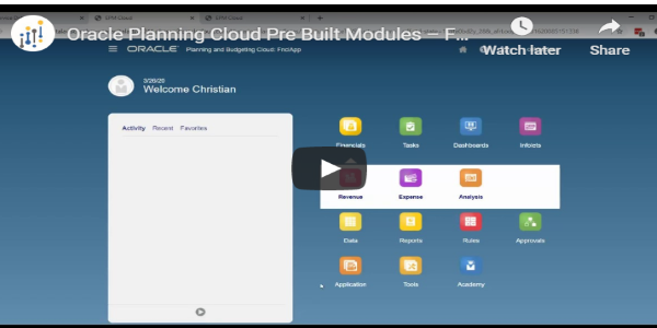 Oracle Planning Cloud