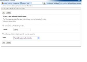 OBIEE LDAP Configuration - Select Active Directory as Type
