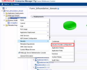 OBIEE LDAP Configuration - Security Provider Configuration