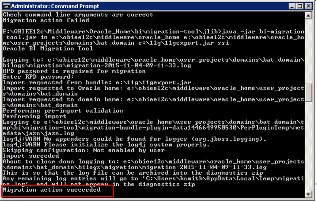 Migrating from OBIEE 11g to 12c in Windows