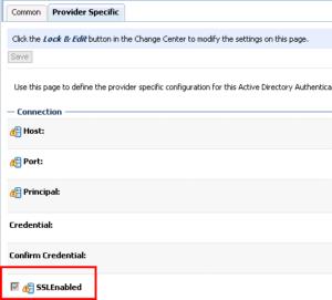 Connecting Weblogic Server - Configure the LDAP Authentication