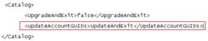 OBIEE - add the UpdateAccountGUIDs sub-element