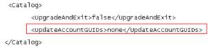OBIEE - change value of UpdateAccountGUIDs sub-element
