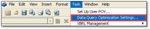 Hyperion Financial Reporting - Data Query Optimization Settings