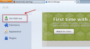 Using Firefox with Hyperion - Click Get Add-ons