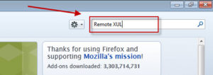 Using Firefox with Hyperion - Search for Remote XUL